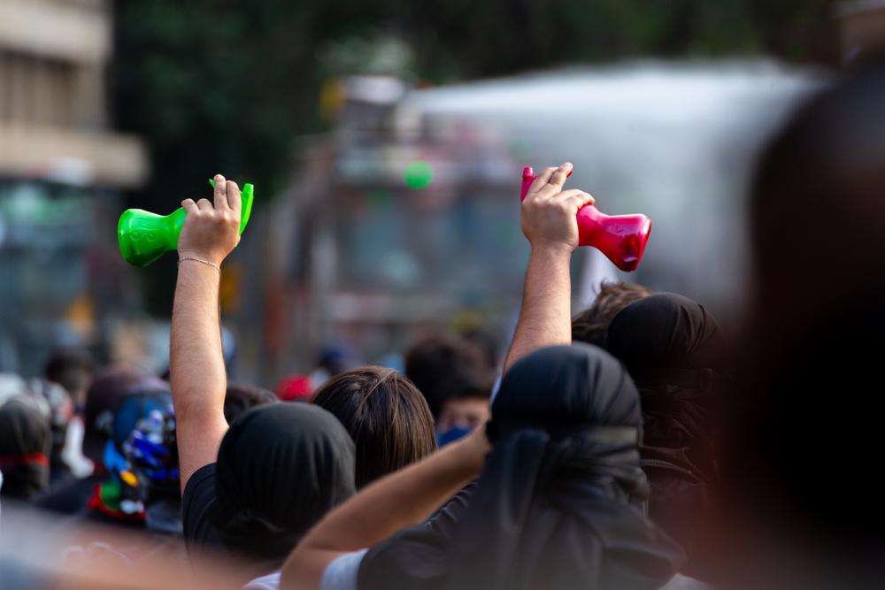 Chile plebiscite protestors